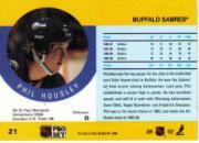 1990-91 Pro Set #21B Phil Housley COR/Traded logo back image