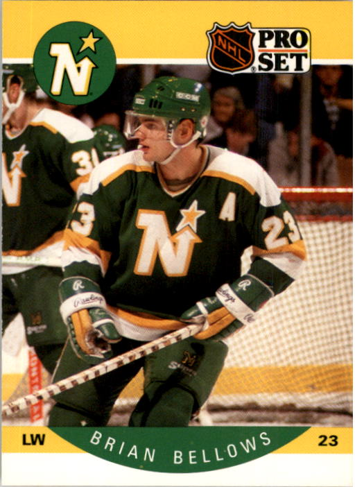 1990-91 Pro Set #130A Brian Bellows ERR/(Back photo actually Dave/Gagner; front LW, back RW)