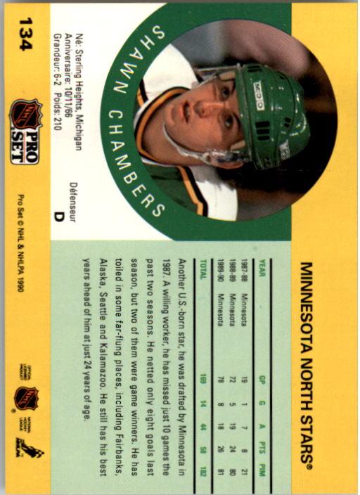 1990-91 Pro Set #134 Shawn Chambers back image