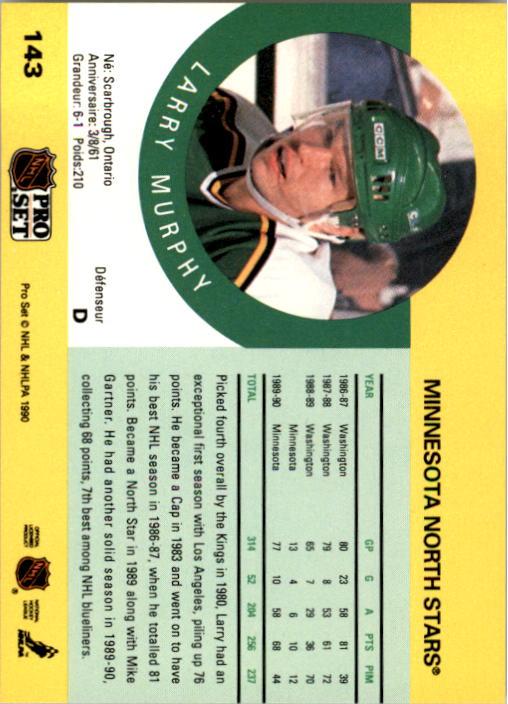 1990-91 Pro Set #143 Larry Murphy back image