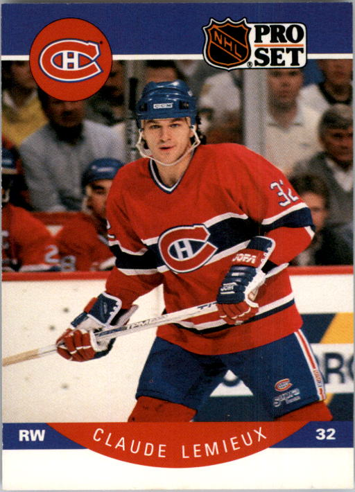 1990-91 Pro Set #153 Claude Lemieux UER/(Reason is misspelled/as reson)