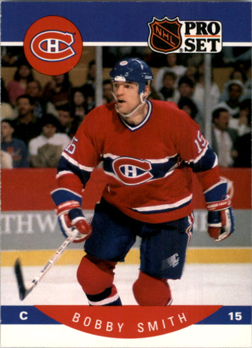 1990-91 Pro Set #160 Bobby Smith UER/(No mention of trade from/Montreal to Minnesota)