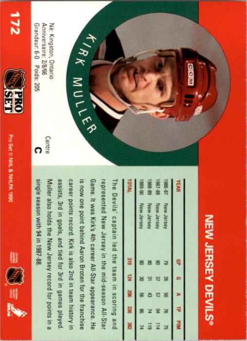 1990-91 Pro Set #172 Kirk Muller back image