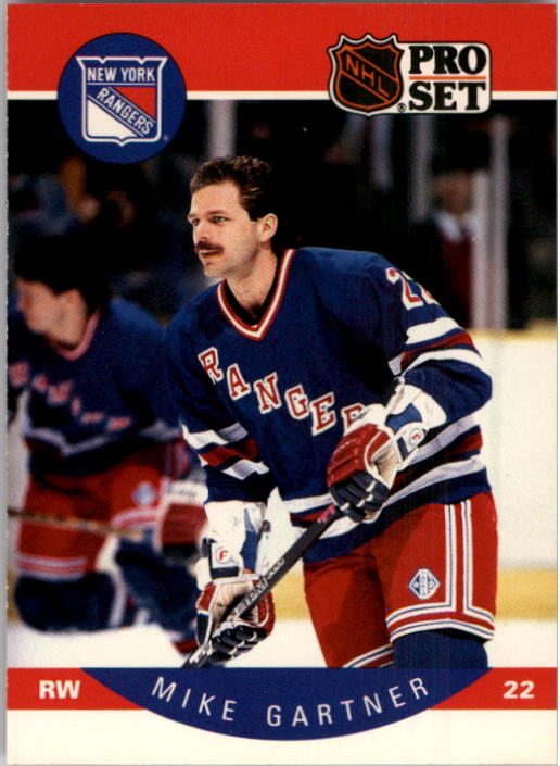 1990-91 Pro Set #196 Mike Gartner UER/(Minnesota and Rangers/stats not separate)