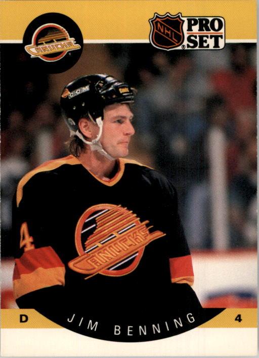 1990-91 Pro Set #292 Jim Benning