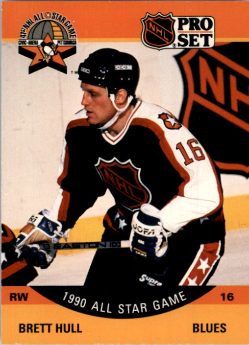 1990-91 Pro Set #342 Brett Hull AS