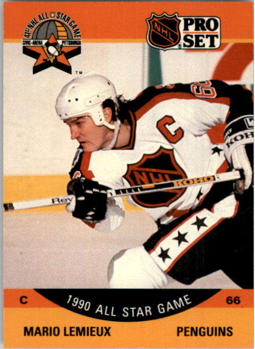 1990-91 Pro Set #362 Mario Lemieux AS