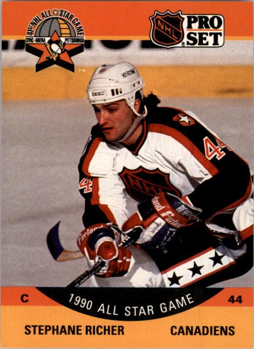 1990-91 Pro Set #370 Stephane Richer AS