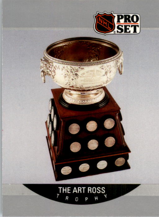 1990-91 Pro Set #388 Wayne Gretzky Ross UER/(Gretzky has won eight/Art Ross Trophies)