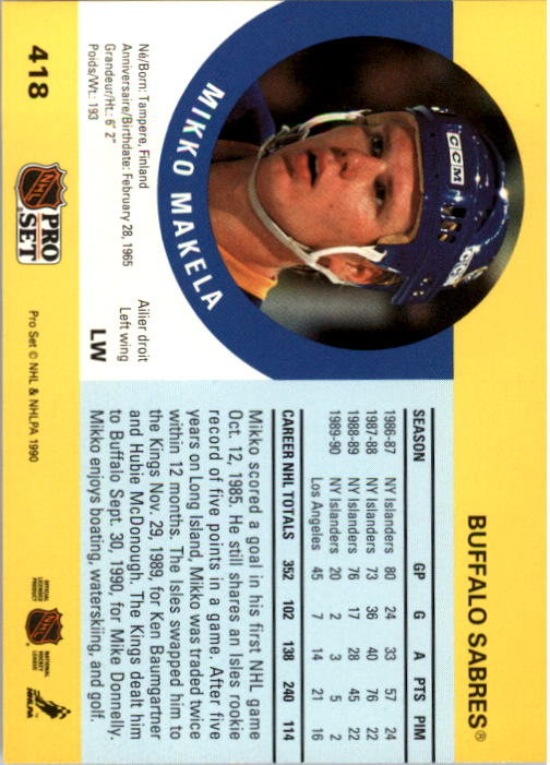 1990-91-Pro-Set-Hockey-s-223-459-Rookies-You-Pick-Buy-10-cards-FREE-SHIP