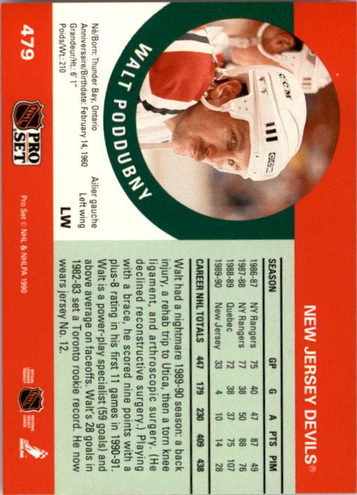 1990-91 Pro Set #479 Walt Poddubny back image