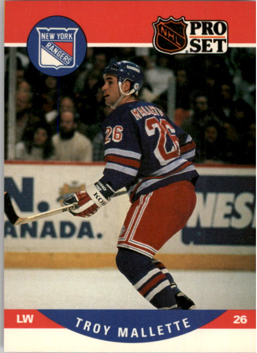 1990-91 Pro Set #492 Troy Mallette RC