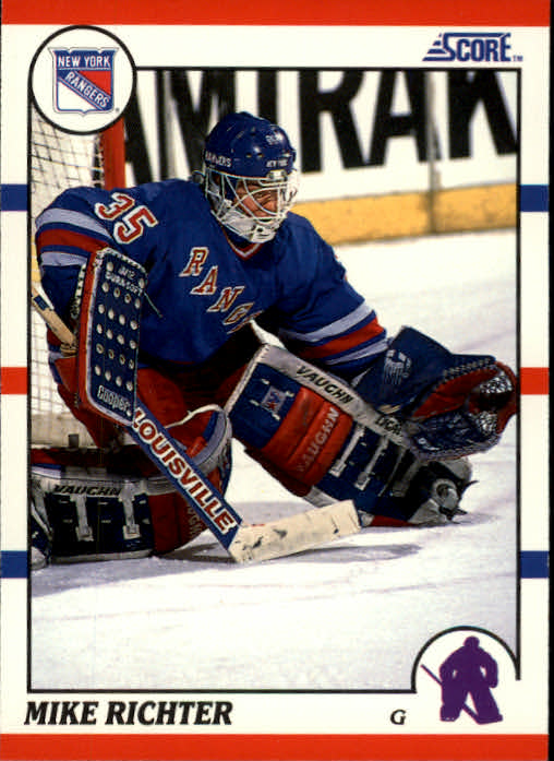 1990-91 Score #74 Mike Richter RC