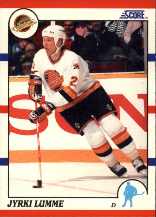 1990-91 Score #132 Jyrki Lumme RC