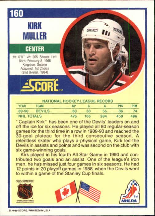 1990-91 Score #160 Kirk Muller back image