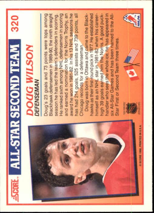 1990-91 Score #320 Doug Wilson AS2 back image
