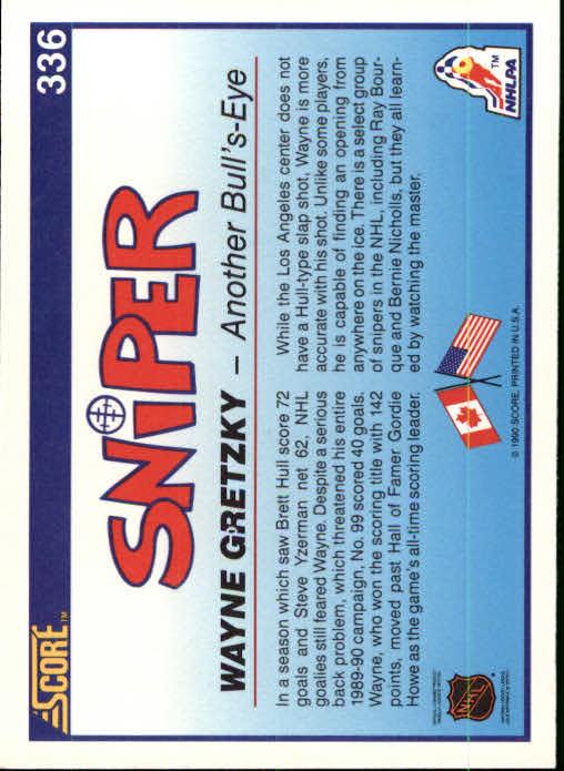 1990-91 Score #336 Wayne Gretzky Sniper back image