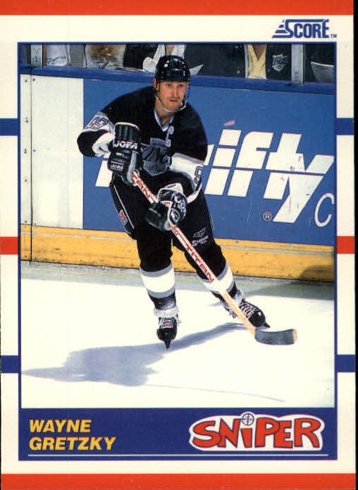 1990-91 Score #336 Wayne Gretzky Sniper