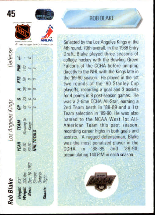 1990-91-Upper-Deck-Hockey-s-1-200-Rookies-You-Pick-Buy-10-cards-FREE-SHIP thumbnail 90
