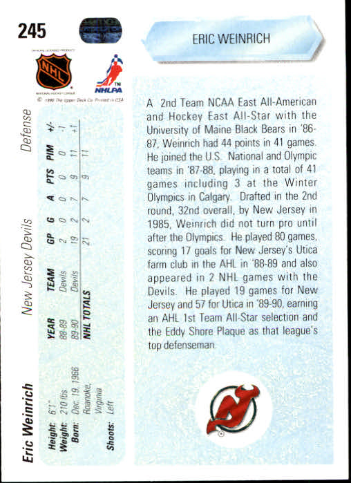 1990-91-Upper-Deck-Hockey-201-400-Rookies-You-Pick-Buy-10-cards-FREE-SHIP thumbnail 89