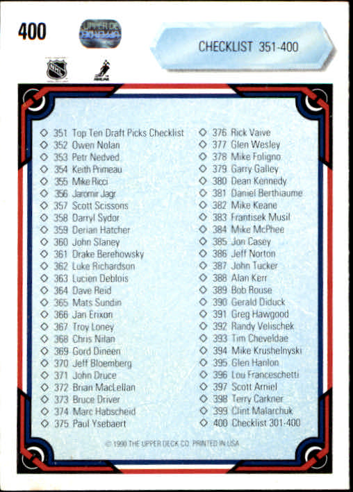1990-91-Upper-Deck-Hockey-201-400-Rookies-You-Pick-Buy-10-cards-FREE-SHIP thumbnail 397