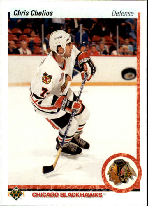 1990-91 Upper Deck #422 Chris Chelios