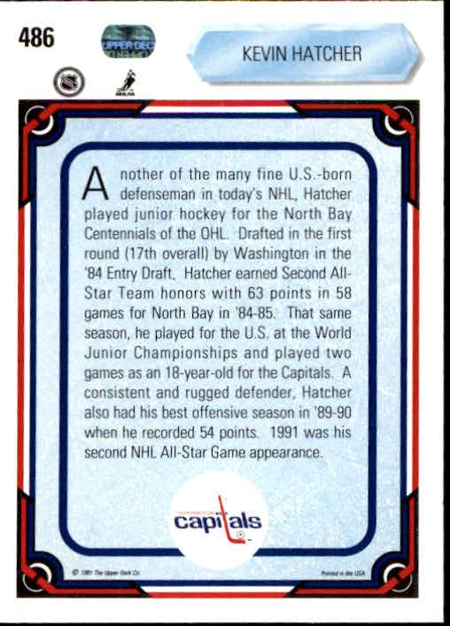1990-91 Upper Deck #486 Kevin Hatcher AS back image