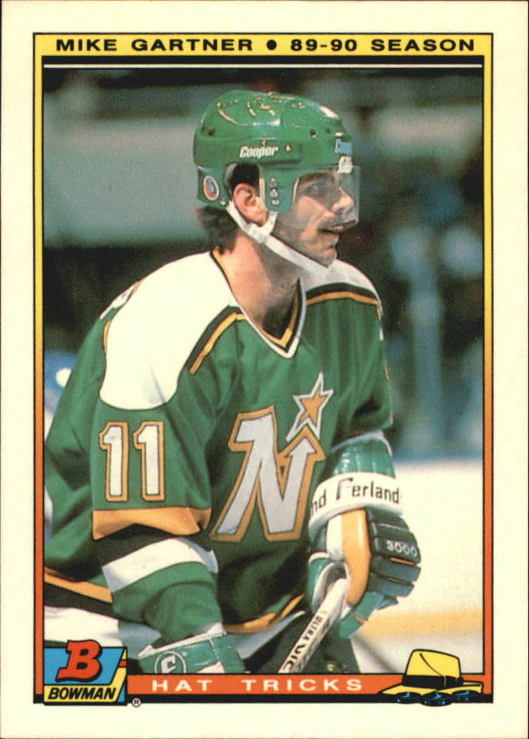 1990-91 Bowman Hat Tricks #8 Mike Gartner