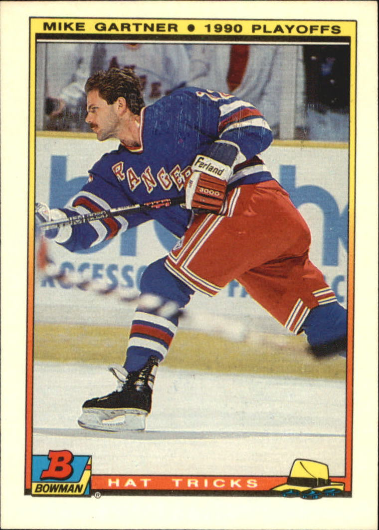 1990-91 Bowman Hat Tricks #17 Mike Gartner