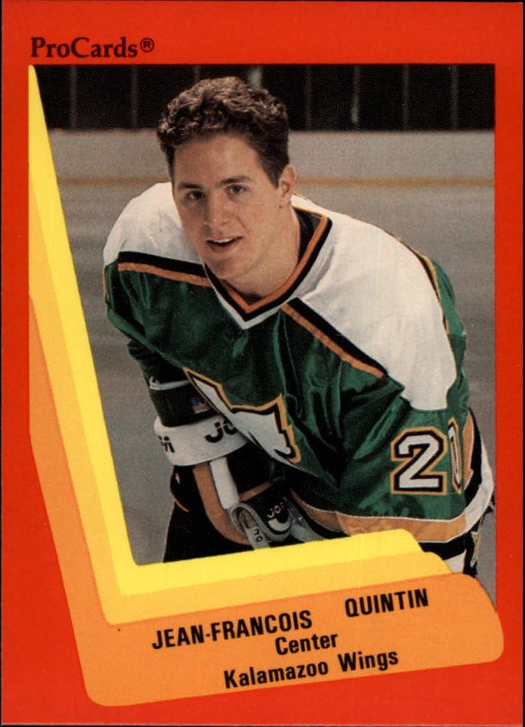 1990-91 ProCards AHL/IHL #117 Jean-Francois Quintin