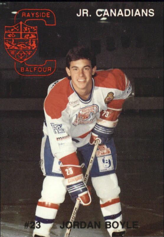 1990-91 Rayside-Balfour Jr. Canadians #3 Jordan Boyle