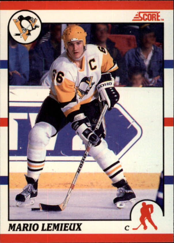 1990-91 Score Canadian #2 Mario Lemieux