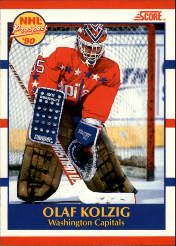 1990-91 Score Canadian #392 Olaf Kolzig RC UER#(photo actually Don Beaupre)