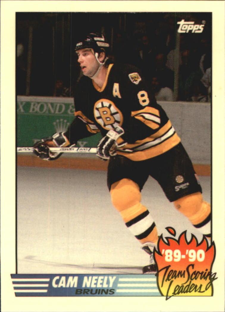 1990-91 Topps Team Scoring Leaders #3 Cam Neely
