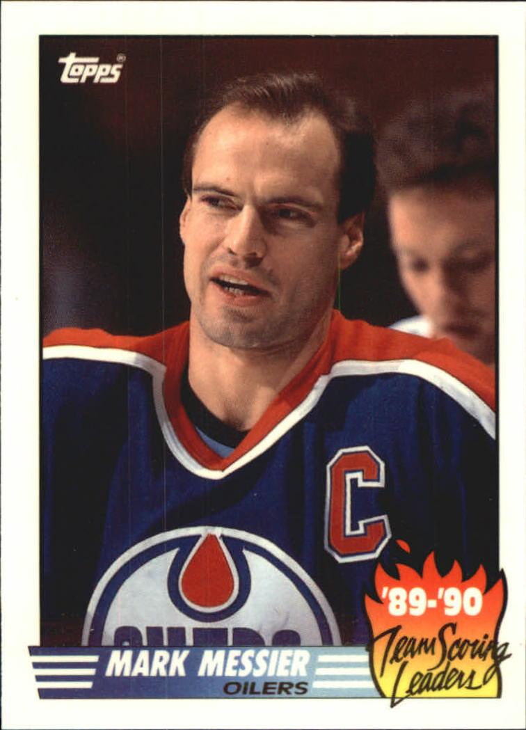 1990-91 Topps Team Scoring Leaders #16 Mark Messier