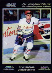 1991 7th Inning Sketch CHL Award Winners #8 Eric Lindros