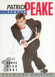 1991 Arena Draft Picks Autographs #11 Pat Peake