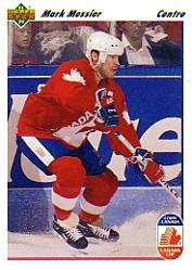 1991-92 Upper Deck French #14 Mark Messier CC