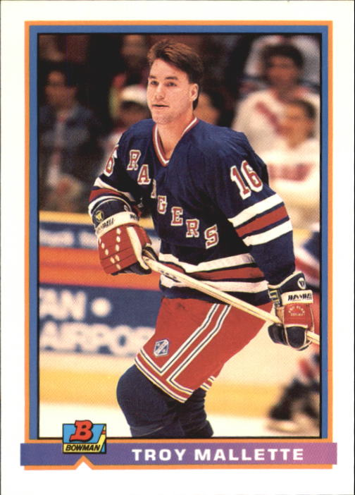 1991-92 Bowman #65 Troy Mallette