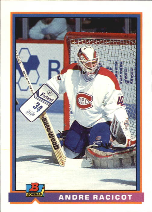 1991-92 Bowman #337 Andre Racicot RC