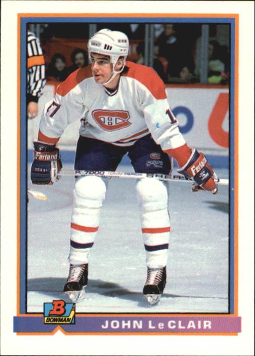 1991-92 Bowman #344 John LeClair RC