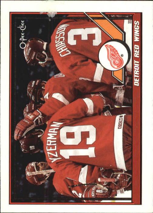 1991-92 O-Pee-Chee #60 Red Wings Team