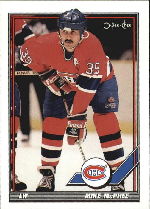 1991-92 O-Pee-Chee #252 Mike McPhee