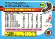 1991-92 O-Pee-Chee #366 Steve Konroyd back image