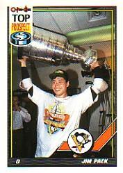 1991-92 O-Pee-Chee #437 Jim Paek RC