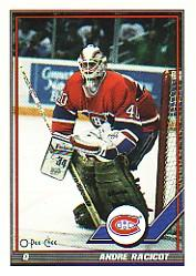 1991-92 O-Pee-Chee #450 Andre Racicot RC