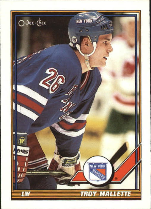 1991-92 O-Pee-Chee #474 Troy Mallette