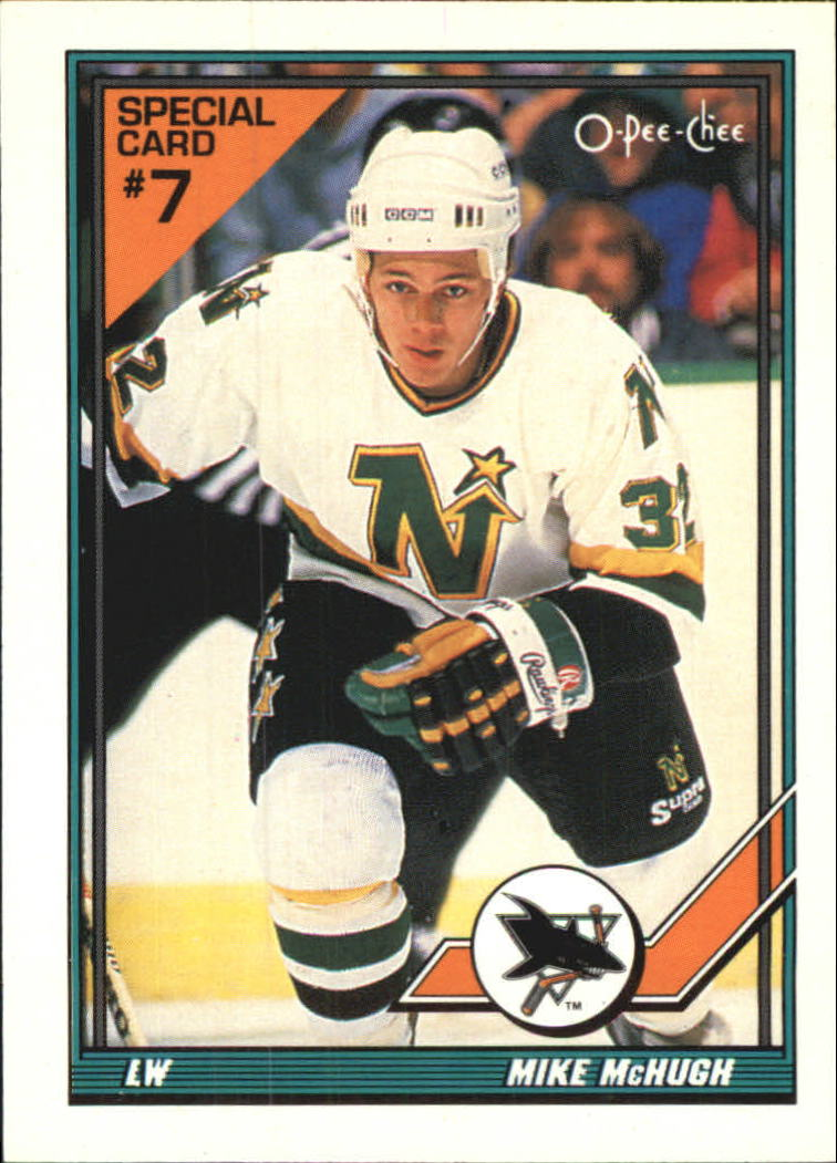 1991-92 O-Pee-Chee Inserts #7S Mike McHugh