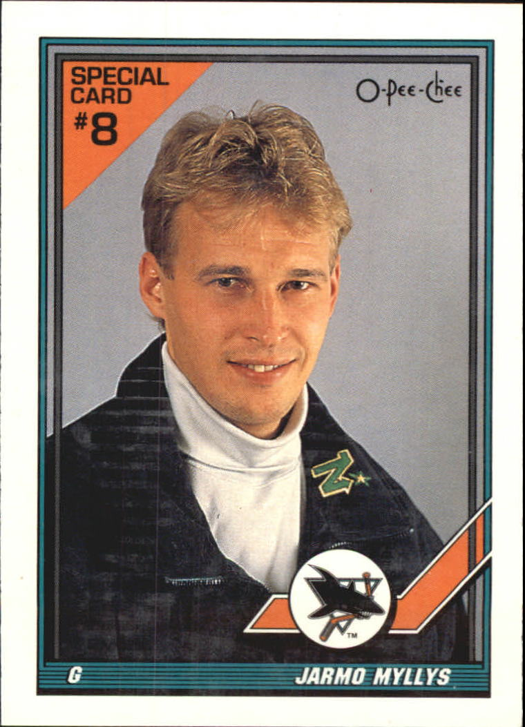 1991-92 O-Pee-Chee Inserts #8S Jarmo Myllys UER