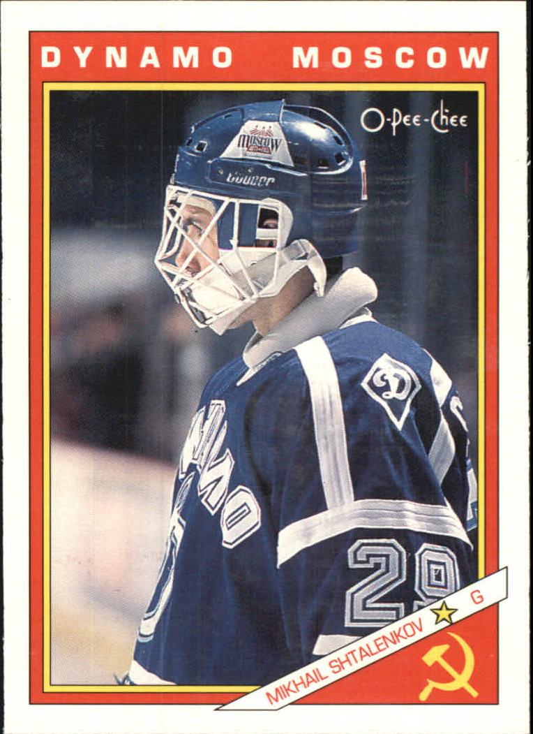 1991-92 O-Pee-Chee Inserts #43R Mikhail Shtalenkov